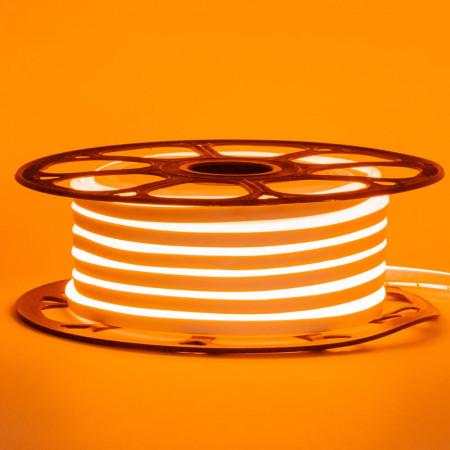 Неонова стрічка світлодіодна помаранчева 12V 8х16 пвх smd2835 120LED/м 6Вт/м IP65