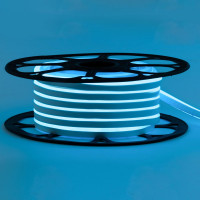 Неоновая лента светодиодная голубая AVT-1 220V smd2835 120LED/м 7Вт/м IP65