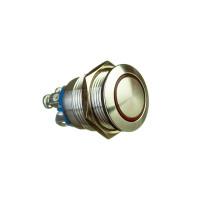 Кнопка антивандальная GQ-19BS-10EL фиксирующий