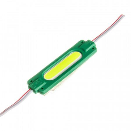 Світлодіодний модуль СОВ 12 V зелений 1led 2W овальний IP65