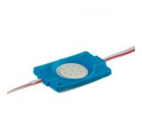 Светодиодный модуль 12 V синий СОВ круглый 1led 2,4W IP65