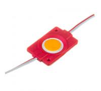 Світлодіодний модуль 12 V червоний СОВ круглий 1led 2,4 W IP65