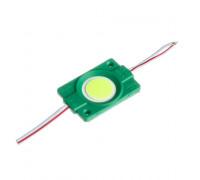 Светодиодный модуль СОВ 12 V зеленый 1led 2.4W круг IP65