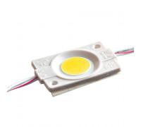 Светодиодный модуль 12 V желтый СОВ круглый 1led 2,4W IP65