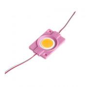 Светодиодный модуль СОВ 12 V розовый 1led 2.4W круг IP65