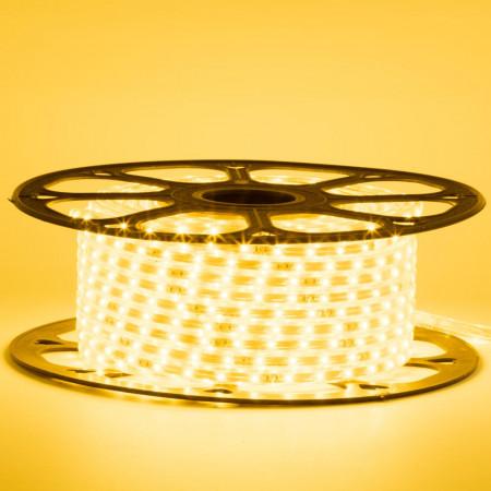 Герметична світлодіодна стрічка 220В жовта smd 2835-48 led/м 6 Вт/м