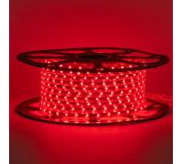 Герметична світлодіодна стрічка червона 220В smd 2835-48 led/м 6 Вт/м
