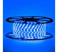 Мигающая светодиодная герметичная лента 220В синяя smd 2835-48 лед/м 6 Вт/м