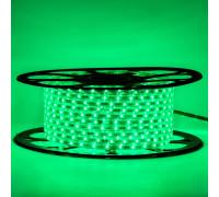 Герметична світлодіодна стрічка 220В зелена smd 2835-48 led/м 6 Вт/м