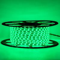 Мигающая светодиодная герметичная лента 220В зеленая smd 2835-48 лед/м 6 Вт/м