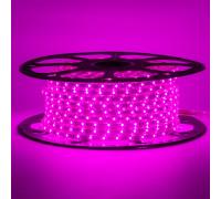 Светодиодная герметичная лента 220В розовая smd 2835-48 лед/м 6 Вт/м