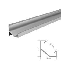 Алюминиевый профиль угловой 2 м ПФ-20 рассеиватель (комплект)
