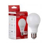 LED лампа Е27 А65 18W нейтральна біла 4100К SIVIO