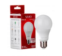 LED лампа Е27 А65 15W нейтральна біла 4100К SIVIO