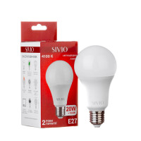 LED лампа Е27 А70 20W нейтральная белая 4100К SIVIO