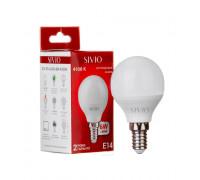 LED лампа Е14 G45 8W нейтральна біла 4100К SIVIO