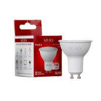 LED лампа GU10 MR16 7W нейтральна біла 4100К SIVIO