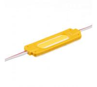 Светодиодный модуль 24 V желтый COB 1led 2W IP65