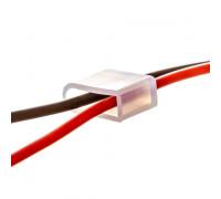 Комплектуючі до LED неону 6мм 12В (2 дроти 2 заглушки)