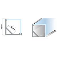 Алюминиевый профиль угловой квадратный 2 м ПФ-9 + рассеиват.полумат.