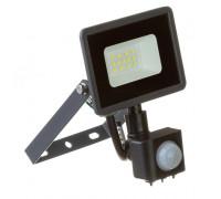 Led прожектор вуличний з датчиком руху 10Вт 6000К IP65 AVT
