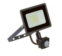 Led прожектор вуличний з датчиком руху 20Вт 6000К IP65 AVT