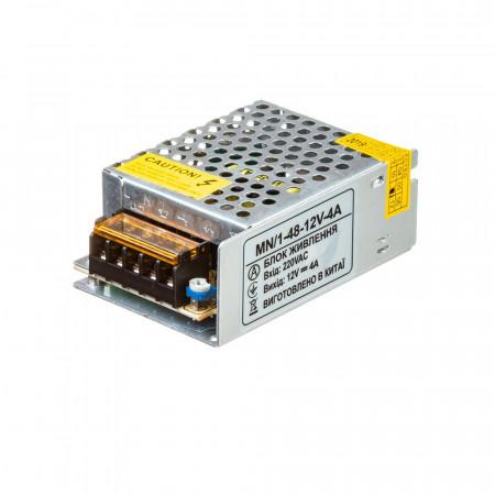 Led блок питания 12V 4A 48Вт IP20 MN/1