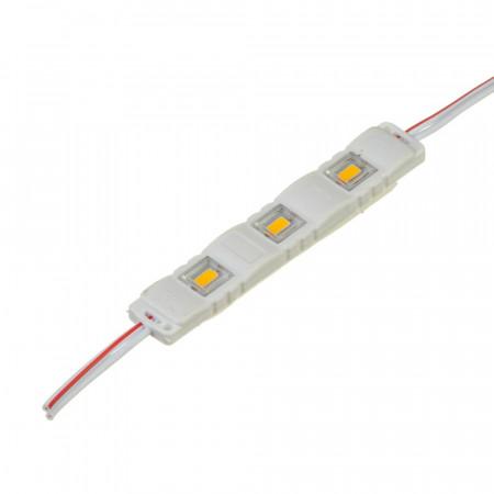 Світлодіодний модуль 12 V білий теплий МТК smd5730 3led 1W IP65