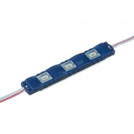 Светодиодный модуль 12 V синий smd5730 3led 1.5W IP65