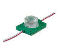 Світлодіодний інжекторний модуль 12 V зелений smd3030 1led 1.5 W IP65