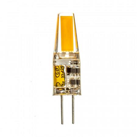LED лампа G4 12V 3,5 W тепла біла 3000К силікон cob1505 SIVIO