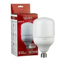 Светодиодная лампа SIVIO Е27 + Е40 Т140 50W 6000K